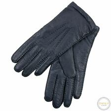 NWT Hestra Blue Elk Leather Cashmere Lined Hand Sewn Gloves Size 8