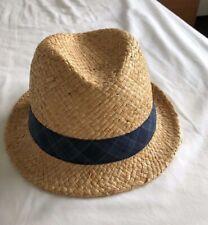 Banana Republic Men's Straw Panama Hat Size S/M - Ideal for Summer & Beach