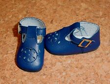 Doll Shoes NAVY BLUE 44mm T-Straps for Ellowyne, Patience & NuMood