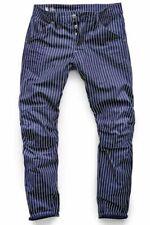 GStar Elwood X25 5622 3D 30x32 Tapered Canvas Wabash Stripe Print Jeans Pharrell