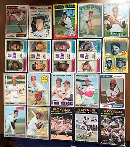 LOT OF 25- BASEBALL HOF SUPER LOT, GIBSON, CARLTON, ROBINSON ,AARON, RUTH, MORE