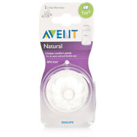Philips Avent Natural Teat 1 Month+ Slow Flow - BPA Free - Anti Colic - 2 Pack