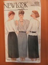 Maudella 6534 Sewing Pattern Ladies Pencil skirt rear button up cut size 16