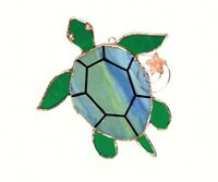 Stained Glass - Sea Turtle Sun Catcher    - GE229