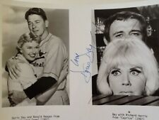 Doris Day SIGNED 8x10 Photo Movie TV Actress Singer Girl Next Door Ronald Reagan