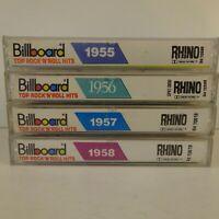Lot of 4 Billboard Top Rock N Roll Hits Tapes Rhino 1955 1956 1957 1958