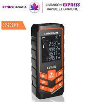 Télémètre, Mesure de distance, surface et volume laser 393 ft / 120 m écran LCD