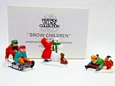 Dept. 56 Snow Children #59382 Set of 3 Heritage Village Collection Mint in Box
