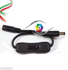 CONNETTORE INTERRUTTORE ON/OFF PER STRISCIA LED MONO RGB 10mm 5050 5630 JACK 5mm