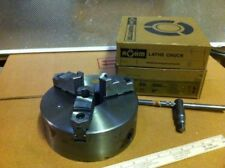 """8"""" 3 JAW FLAT BACK ROHM (TOP BRAND) LATHE CHUCK NEW IN BOX REDUCED  OVERSTOCK"""