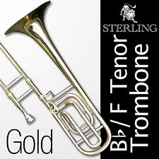 Bb/F TENOR TROMBONE • With F Trigger • High Quality • Brand New • With Case •