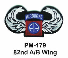 "3"" 82ND A/B WING Embroidered Military Patch"