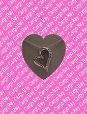 Sterling Silver with Diamonds Heart Pendant Necklace ~ Beautiful ~ Free Shipping