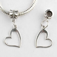 New Fashion 10pcs Tibetan Silver heart Charm Beads For Diy Bracelet