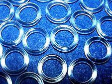 50 x Plastique Transparent 13mm Store Anneaux Rideau
