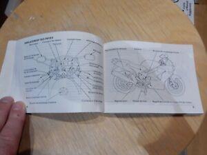 GENUINE HONDA VFR800FI owners manual 1999-2000 on .
