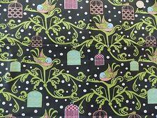 WtW Estate Fabric Bird Birds Cage Springs CP 42692 Dots 2011 Art Deco Mod Quilt
