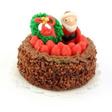 Miniature Para Casa de muñecas Chocolate Pastel Navidad