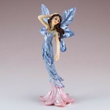 "Mini Blue Feather Fairy Figurine 4.75"" High Resin New!"