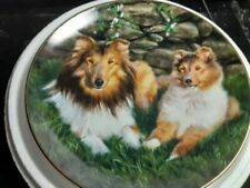 +Danbury Mint Plate Shetland Sheepdogs No: B9173