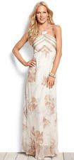 NWT $330 Tommy Bahama Versalia Garden Halter Dress SILK Lt Coffee Womens S 4 6