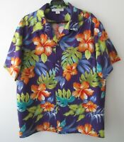 "Vintage Made in Hawaii Tropical Hawaiian Cotton Shirt 47""-119.5cm L (1028H)"