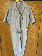 Leisure Coveralls Mens Large Baby Blue Belt Leisure-alls