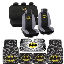 Dark Knight Batman Seat Covers, Floor Mats, Auto Shade for Car & SUV - Full Set