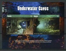 Tuvalu 2017 MNH Underwater Caves Tux Kubaxa 2v S/S Diving Tourism Stamps