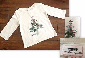 New Baby girls christmas tree top Ex High St Age 3-6 6-9 9-12 12-18  4-5 years