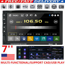 """7"""" Double 2 Din Car Dvd Player Radio Stereo Mp3 Aux Usb Bt Sd Tv Remote Control"""