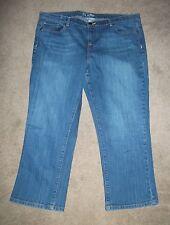 EUC~Women's New York & Co Low Rise Flare Blue Jeans~Size 18~Waist 39/Length 24.5