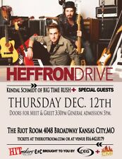 HEFFRON DRIVE /KENDAL SCHMIDT/BIG TIME RUSH 2013 KANSAS CITY CONCERT TOUR POSTER