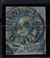 T4278/ GERMANY – SAXONY – MI # 13a USED SIGNED RISMONDO BPP – CV 350 $