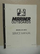 Mariner Outboards Model 8C (6G1) Service Manual 90-12857
