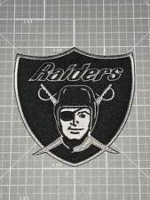 OAKLAND RAIDERS JERSEY PATCH RAIDERS SILVER & BLACK SHIELD 4X4 NEW!