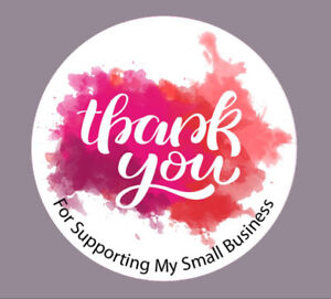 Round Thank you for supporting my small business logo, Round Stickers, Labels t1