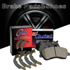 Front + Rear Posi-Quiet Ceramic Brake Pads + Shoes 2Set For 1969-1976 BMW 2002