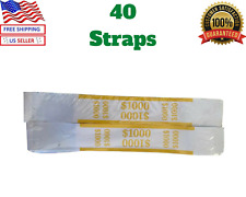 40 Pieces Self Sealing Currency 1,000 Straps For $10 Bills, Money Bands, Cash