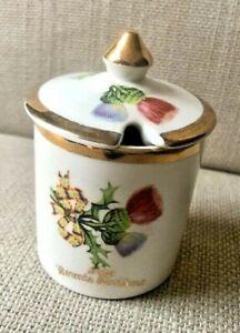 Vintage Crownford Burslem Bone China - Preserve Jam Pot & Lid (from Scotland)