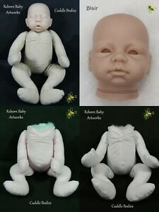 Soft Vinyl **Blair**  Doll Head and *Snap Fastener Cuddle Body*