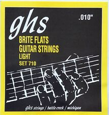GHS 710 Brite Flats Flatwound Electric Guitar Strings 10-46 set 710