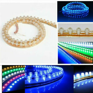 2x 24cm 24Leds 12V Bright Soft LED Strip Lighs Car Moto Decoration Waterproof