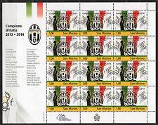 "2014 SAN MARINO ""JUVENTUS CAMPIONE D'ITALIA"" minifoglio sheetlet MNH**"