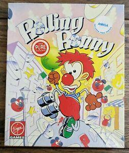 Rolling Ronny A Virgin Game for the Commodore Amiga Computer Big Box Retro