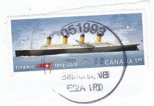 Canada 2012 Titanic Anniversary $1.80 Used on Piece