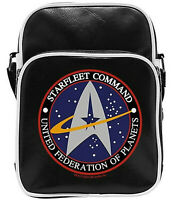 Official Star Trek STARFLEET COMMAND Federation Logo Vinyl Messenger Bag