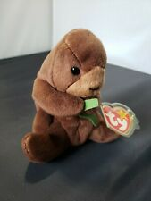 Retired Ty Beanie Baby Seaweed The Otter Mwt