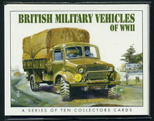 BRITISH MILITARY VEHICLES of WW2 - Collectors Card Set - Hillman Bedford Vickers
