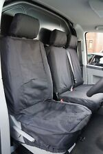 Volkswagen VW Transport T4 T5 T6 Black Fully Tailored Waterproof Seat Covers